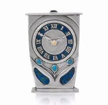 Archibald Knox No' 39 Pewter and Enamel Clock